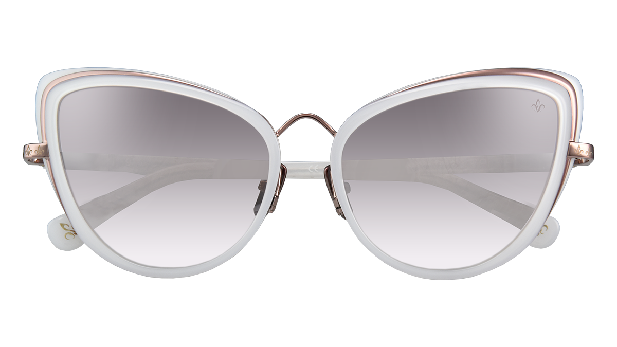 Philippe V WN9 PEARL WHITE LENS PEARL ROSE GRADIENT